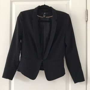 Black blazer with hook closure